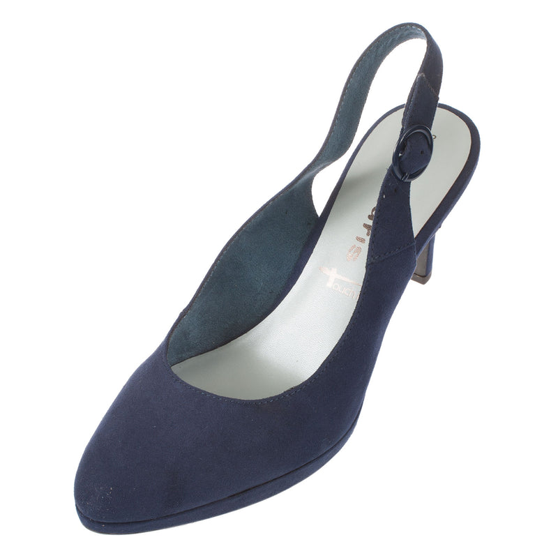 Women's Textile High Heel Slingback Shoe