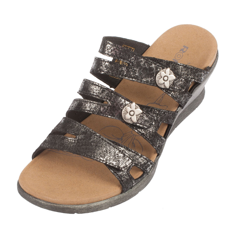 Women's Nevis 04 Leather Velcro Sandal