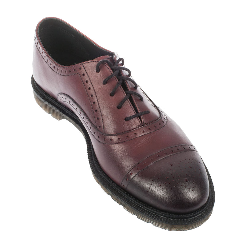 Dr Martens Men's Morris Cherry Red Leather Brogue Shoe (20718600)