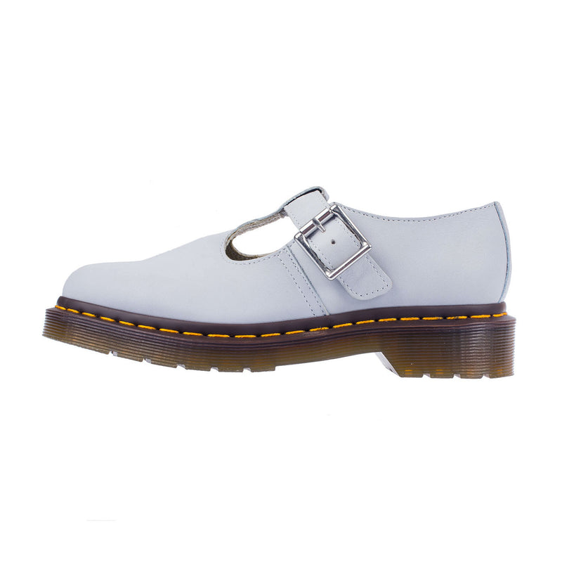 Dr Martens Women's Polley Blue Moon Leather Buckle Strap Shoe (2082245)