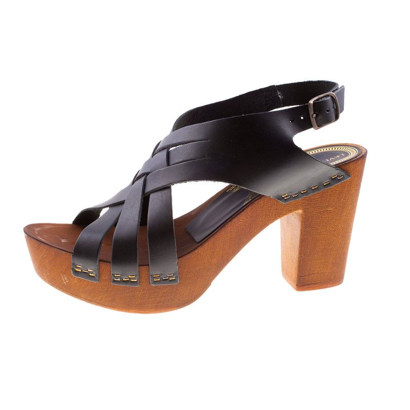 LEVI'S Women's Leather Fashion Heeled Strapped Sandal (77129)