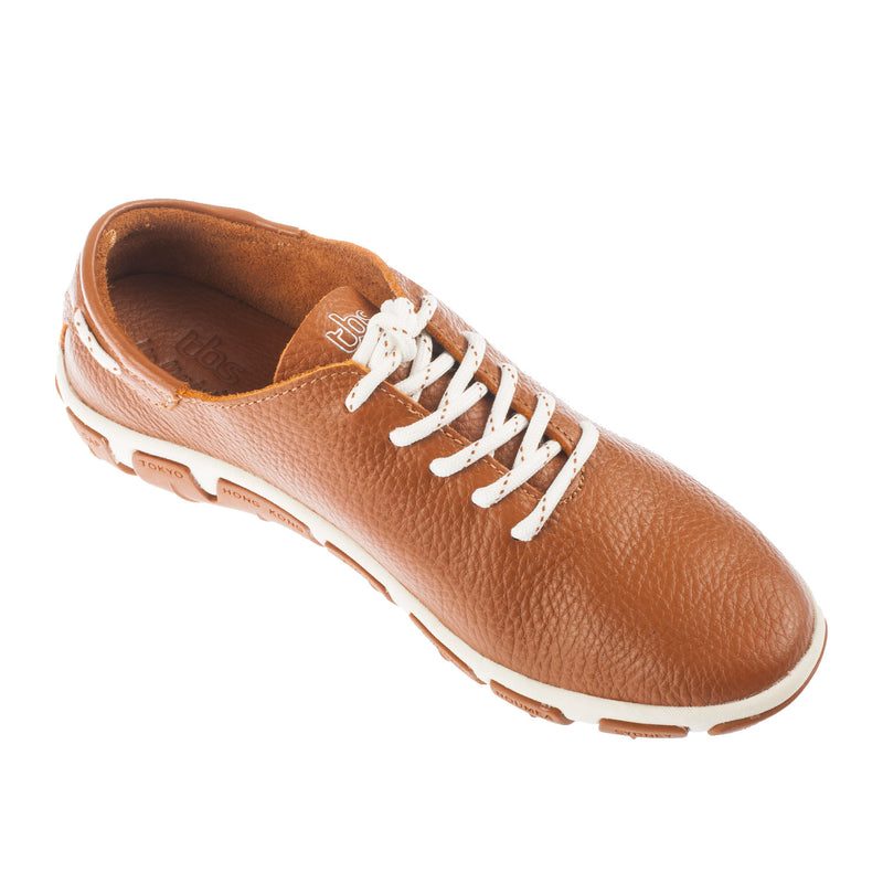 TBS Women's JAZARU Lace Up DATE Trainer Leather Shoe