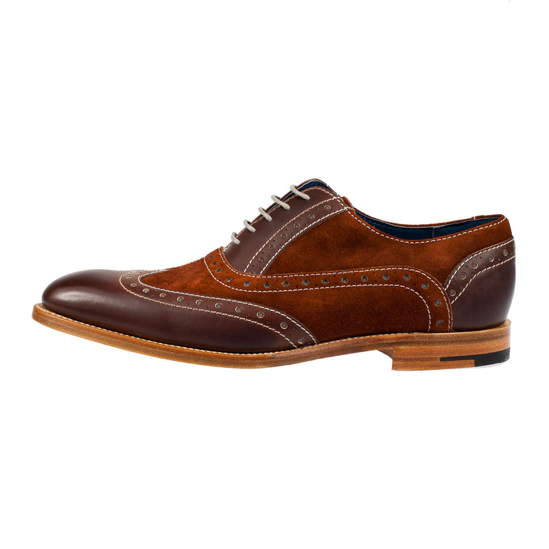 Men's Grant Leather/Nubuck Brogue Shoe