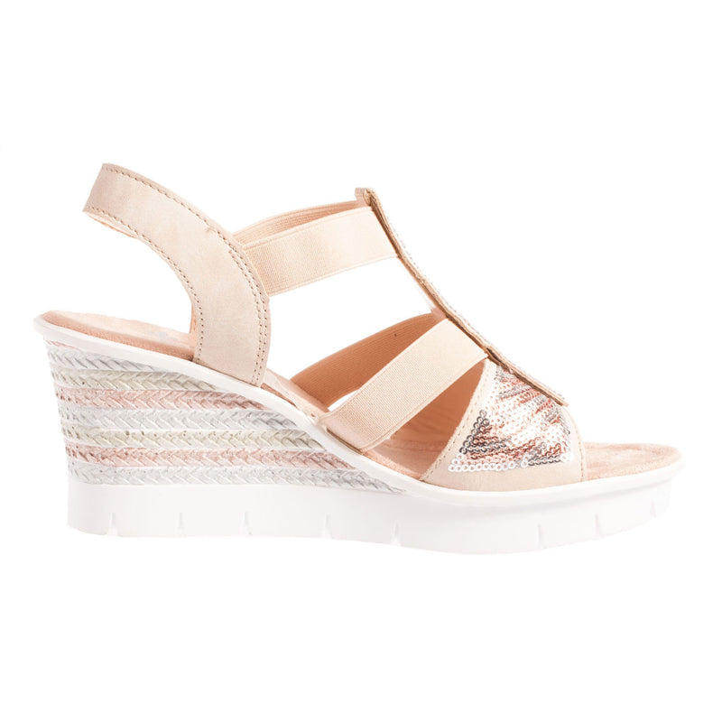 Women's Patent Strappy Wedge Sandal