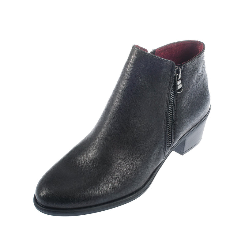 Women's Leather Zip  Ankle Boot