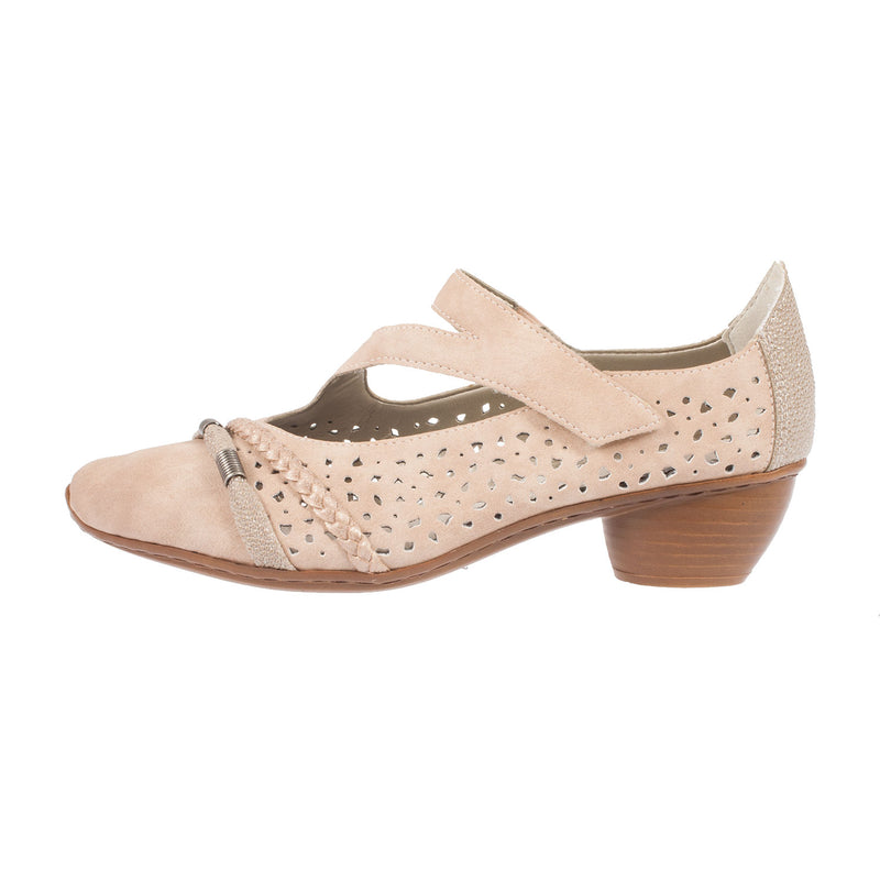 Women's Perforated Velcro Strap Shoe