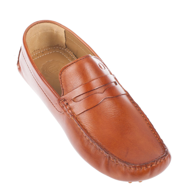 Men's Morgan Washed Leather Driving Shoe