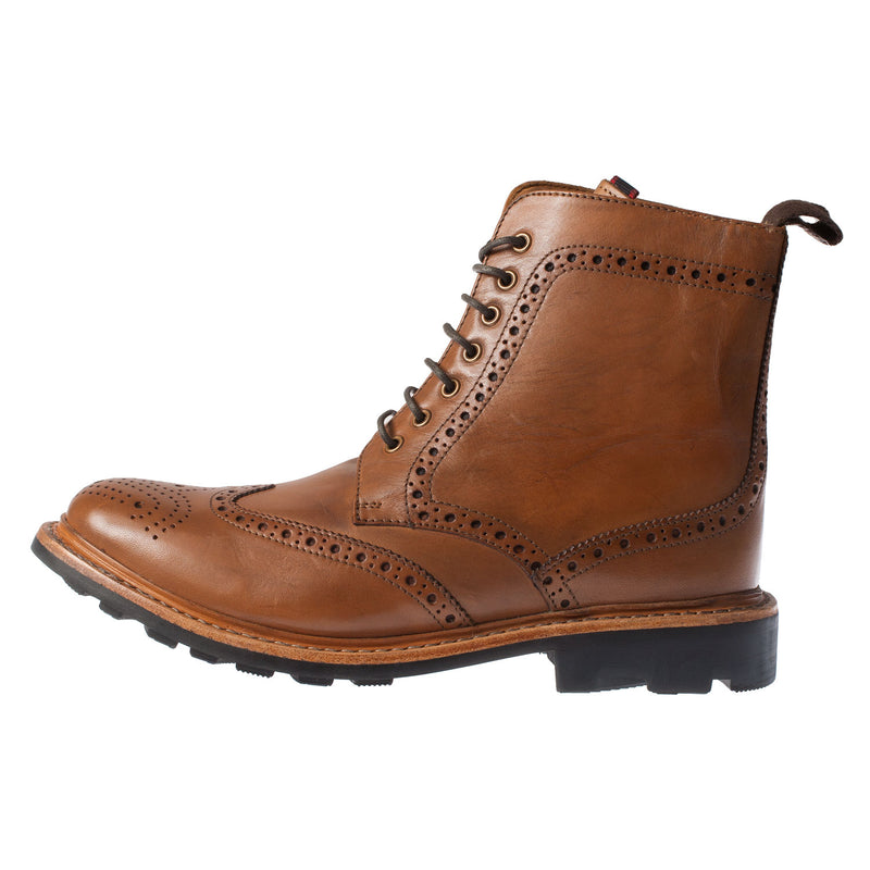 Men's Leather Brogue Boot