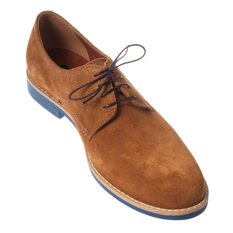 LACUZZO Men's Premium Suede Lace-Up Oxford Shoe