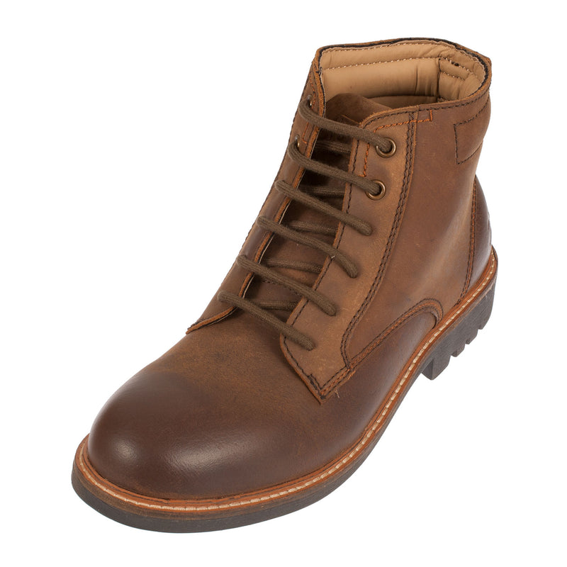 BRAEKBURN Men's Leather Work Lace Up Chukka Boot