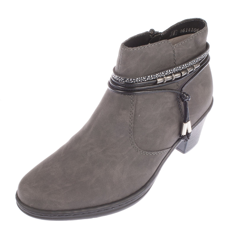 Synthetic Leather Ankle Boot 54953-45