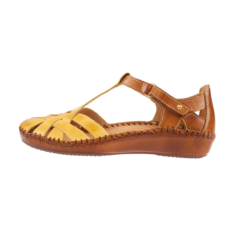 Women's 655-0732C1 Leather Velcro Sandal