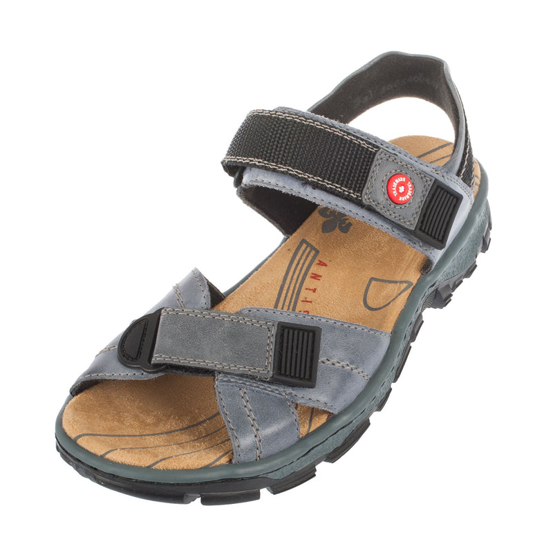 Women's 68851-12 Leather Strapped Sandal