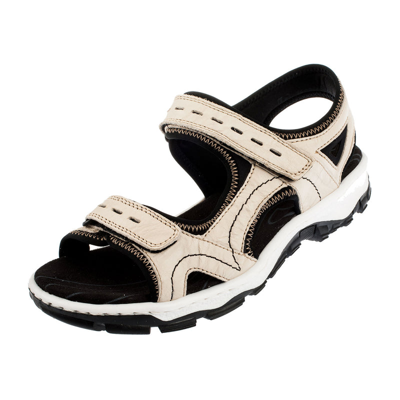 Women's 68866-60 Leather Strapped Sandal