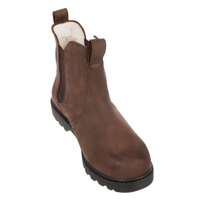 SHEPHERD Men's Klas Leather Sheepskin Lined Chelsea Boot