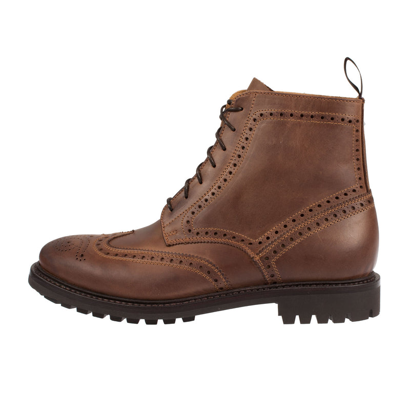 JOHN SPENCER Men's Leather Brogue Commado Sole Boot