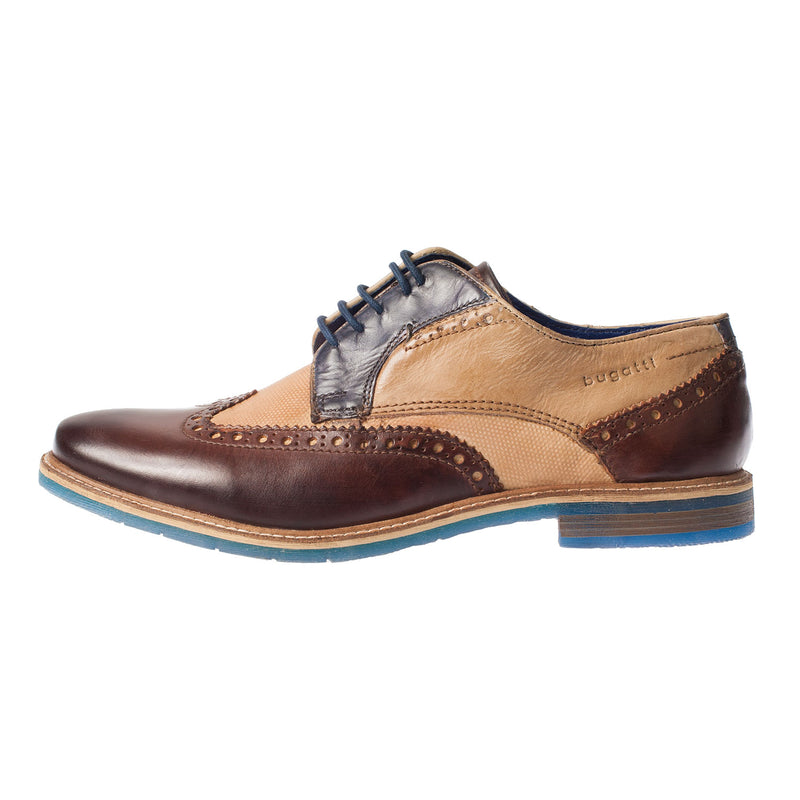 Men's Leather Wing Tip Brogue Shoe