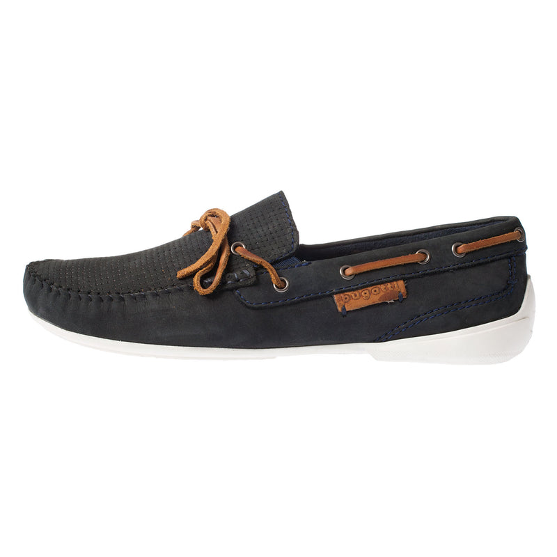 BUGATTI Men's Suede Summer Boat Shoe