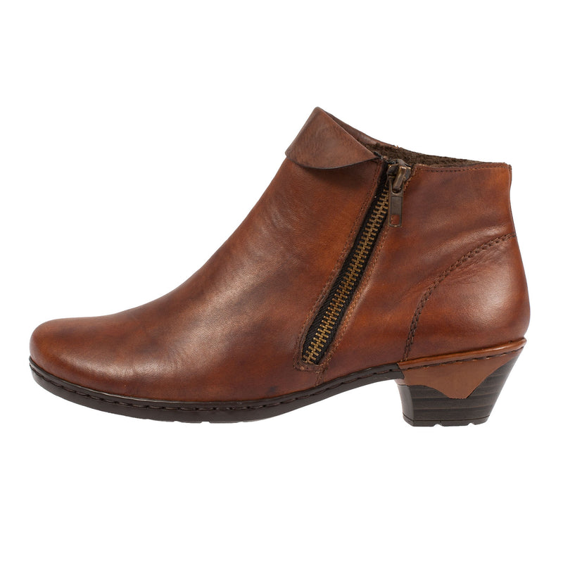 Women's 76961-24 Leather Heel Ankle Boot
