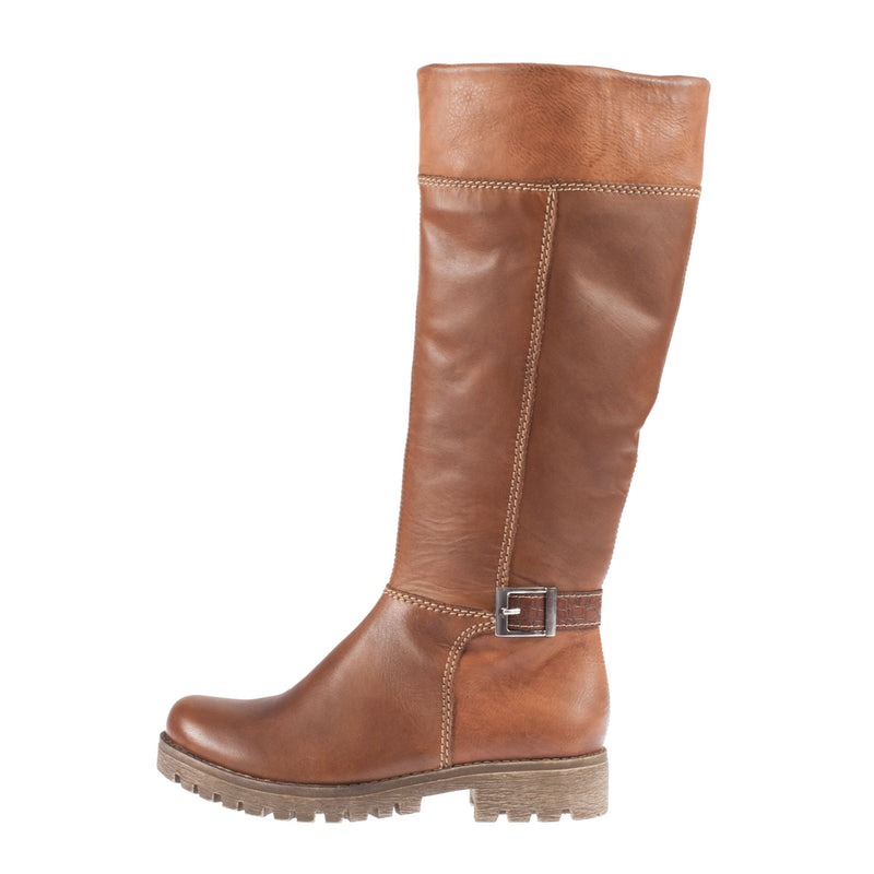 Leather Long Warm Lining Boot 78583-26