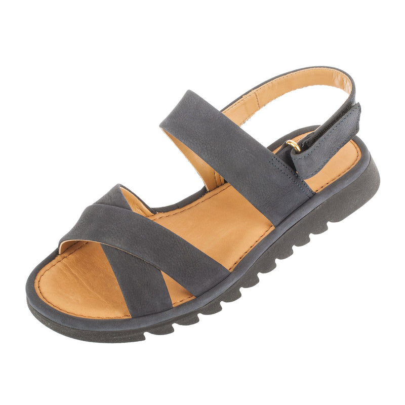 FLEXX Women's Walk A Beat Nubuck Strappy Sandal