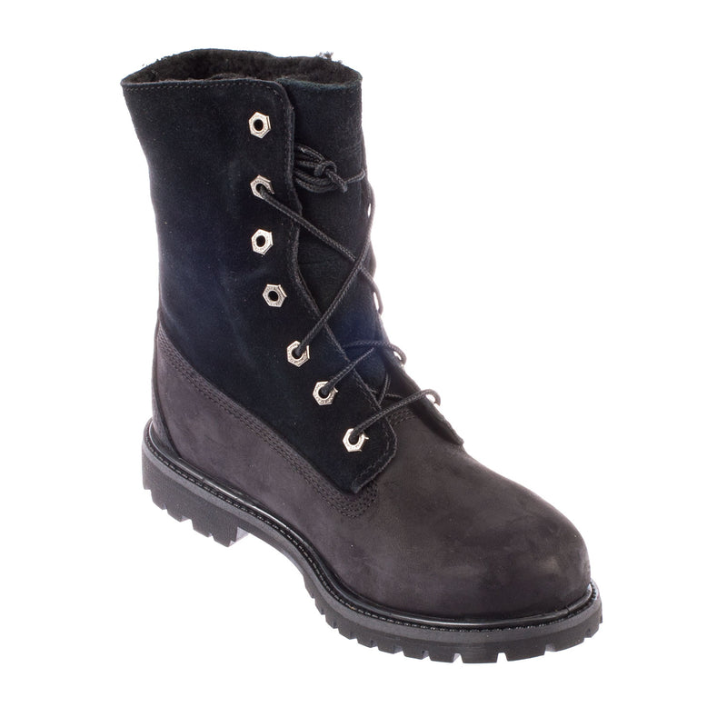Timberland Women's Auth Teddy Fleece Black Leather Boot (8149A)
