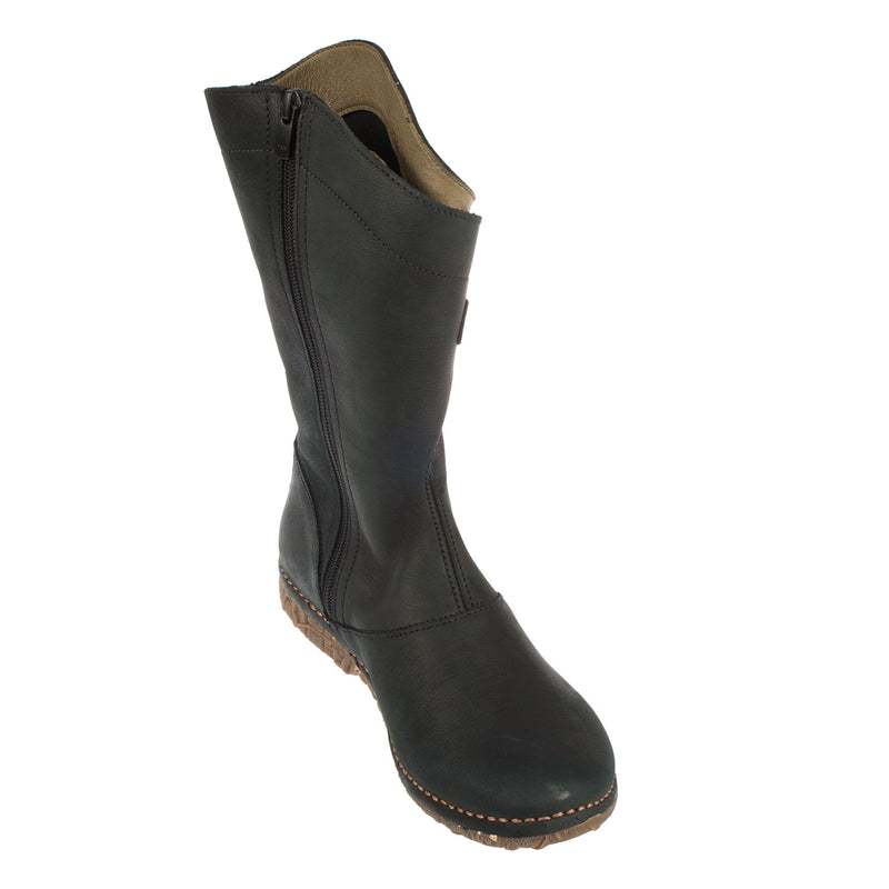 Women's Leather Mid Calf Boot