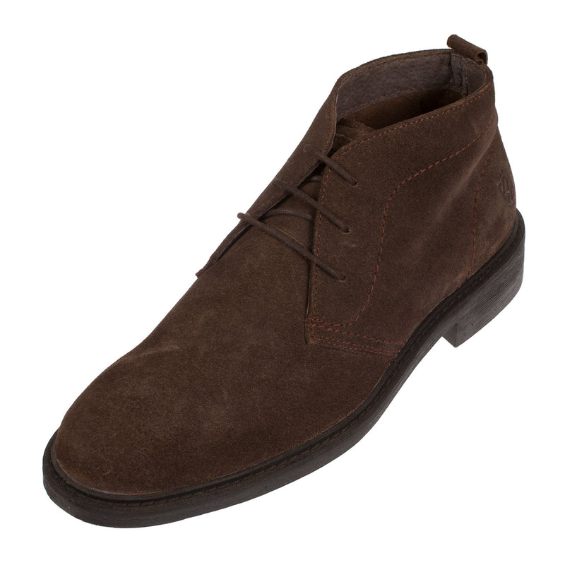 CARMELA Men's Brown Suede Lace Up Chukka Ankle Boots (65752)