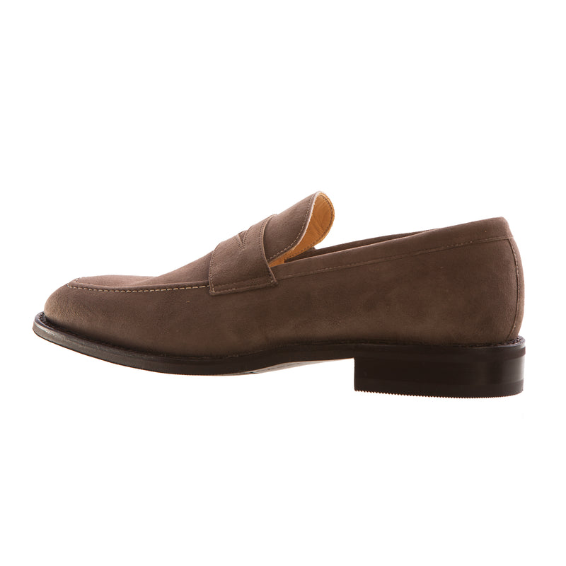 John Spencer Men's Taupe Suede Loafer Shoe
