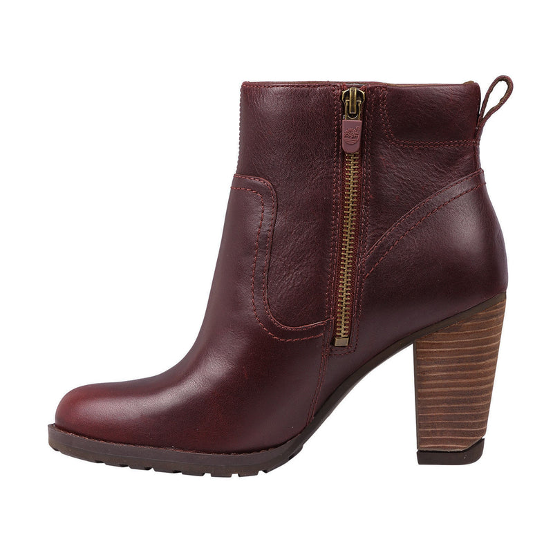 Women's 8615A Wp Leather Ankle Heel Boot