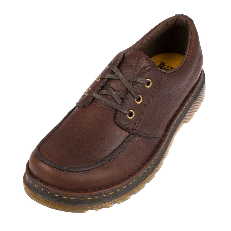 Men's Lubbock Grizzly Dark Brown Leather Shoe