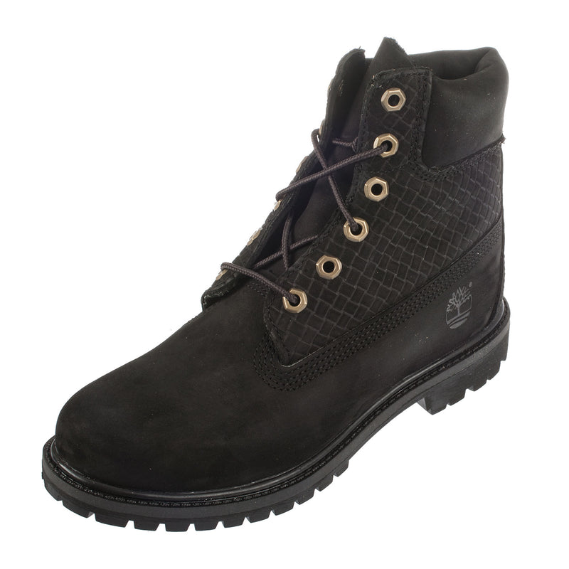 Women's 6In Premium Lace Up Leather Boot