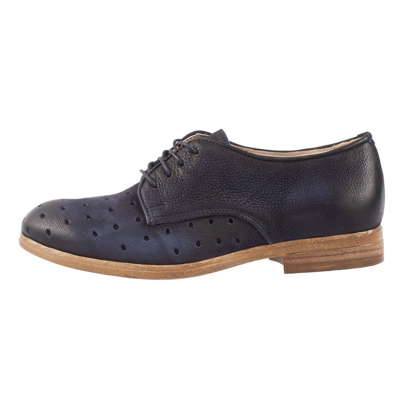 MJUS Women's Leather Lace Up Oxford Shoe