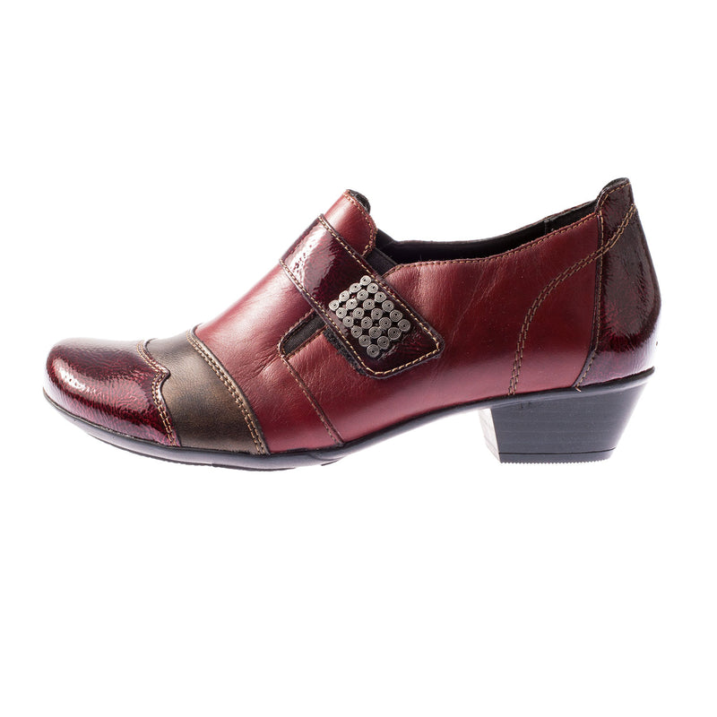 Women's D7333-35 Leather Block Heel Shoe