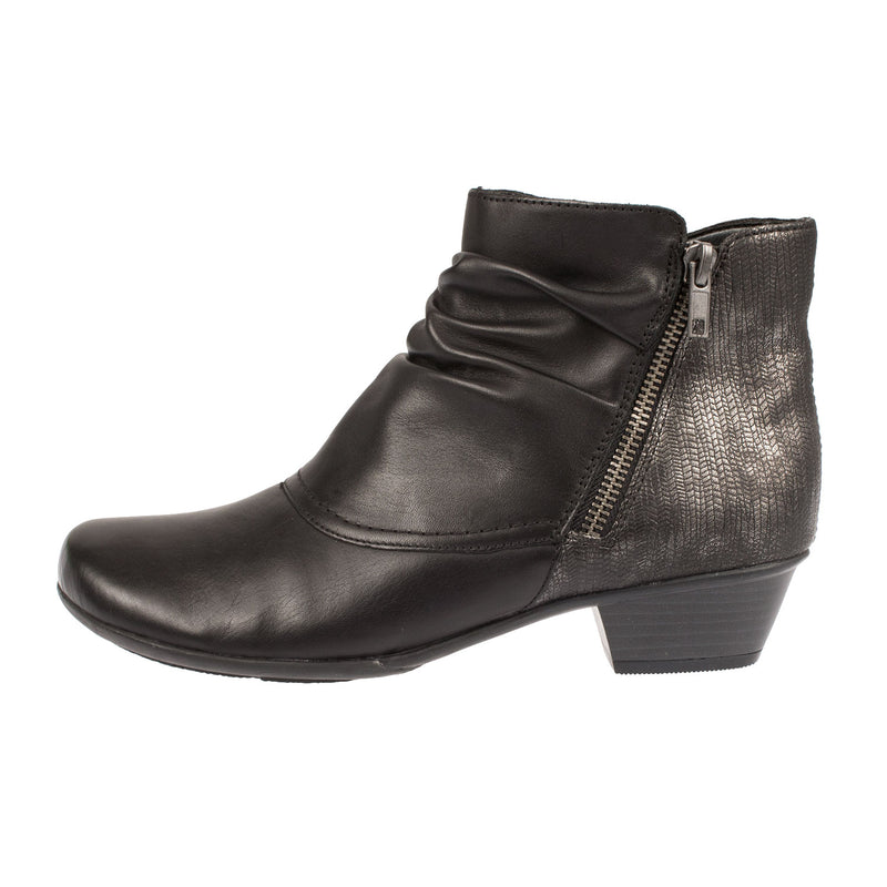 Women's Heeled Leather Ankle Boot
