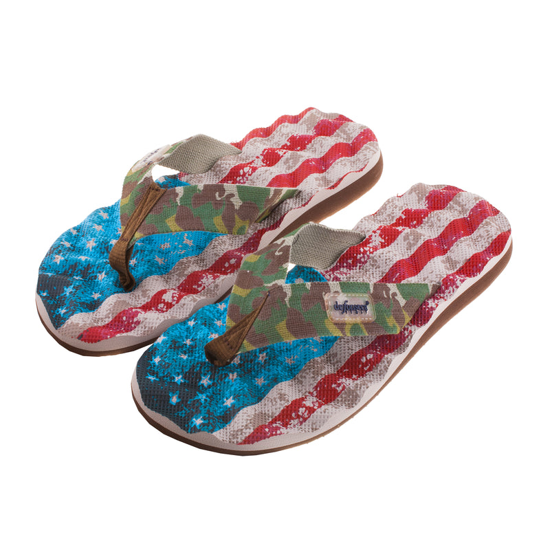 Men's Flag Beach Flip Flop Sandal