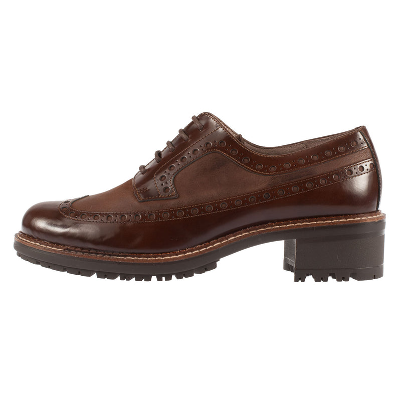 WONDERS Women's Abraspot Leather Wingtip Brogue Shoe (E-5023)