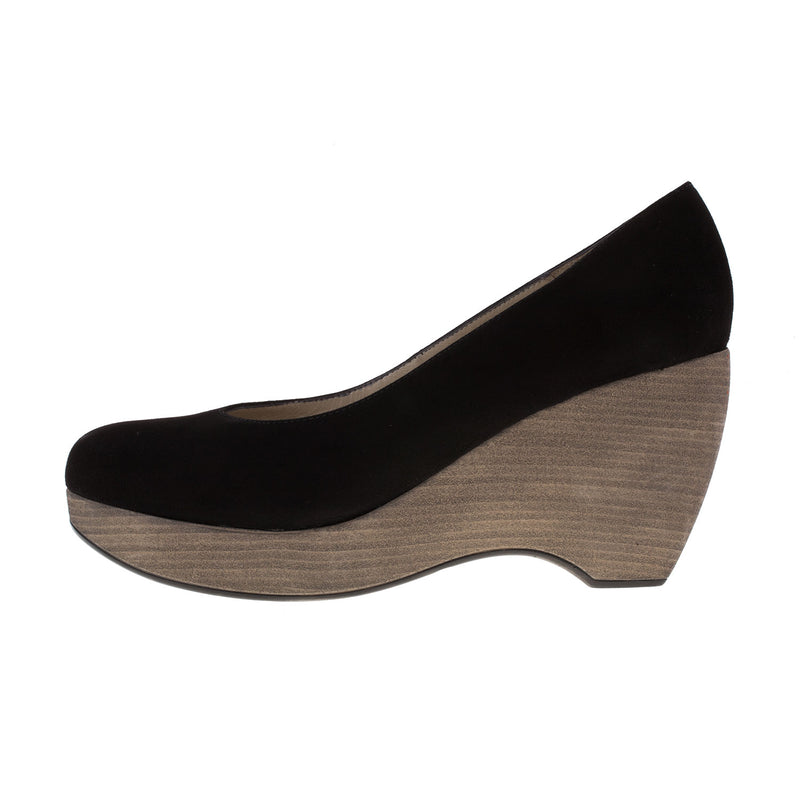 Women's Espana Suede Wedge Slip On Shoe