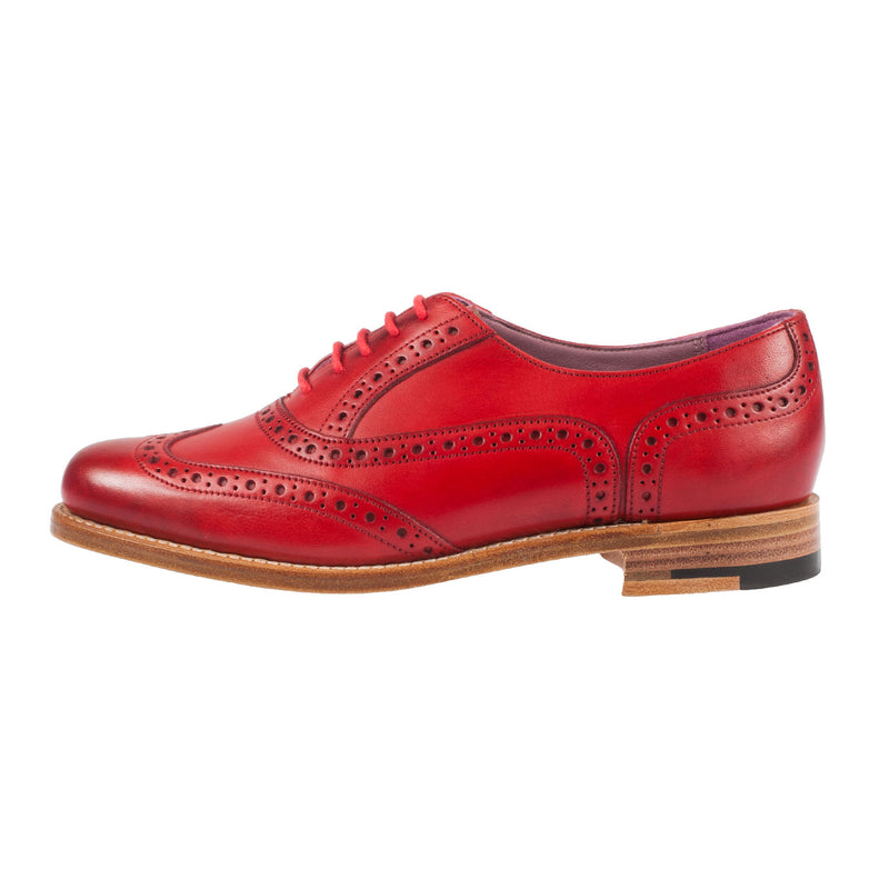BARKER Women's Fearne Hand Painted Lace Up Shoe Brogue