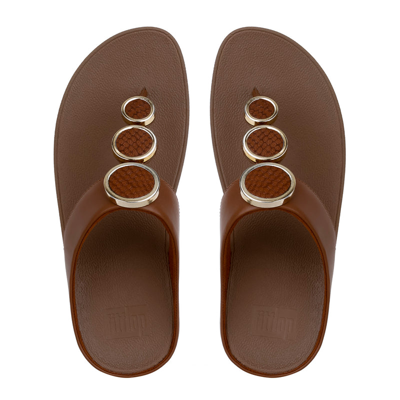 Women's Halo Leather Toe Thong Sandal