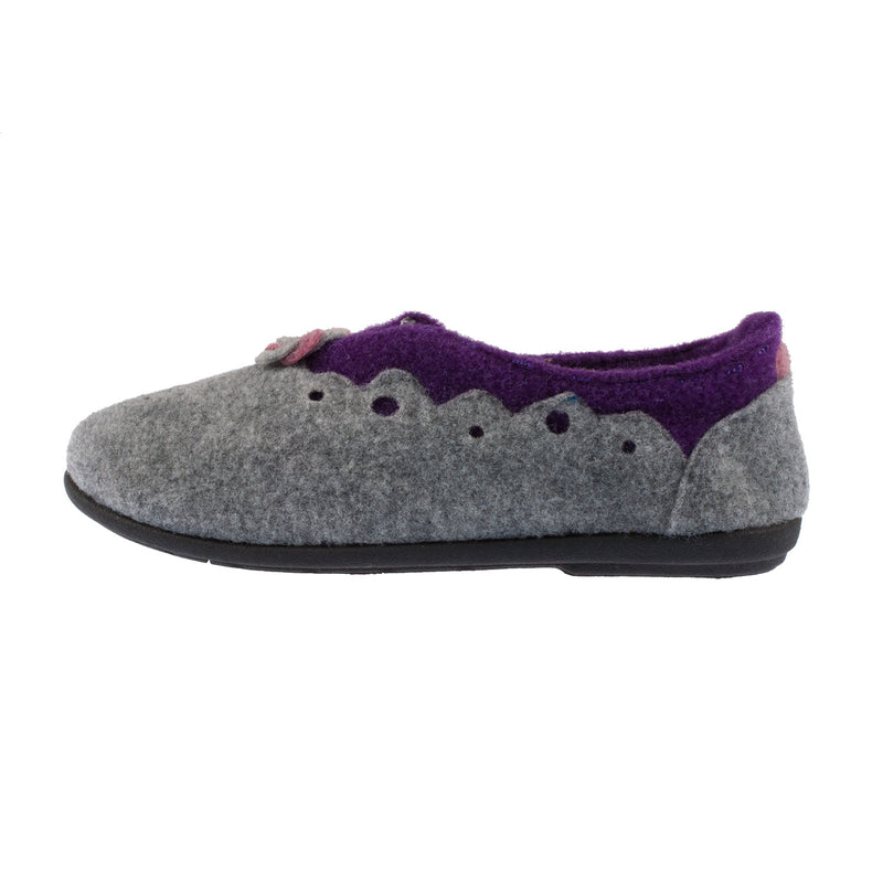 PADDERS Women's Hannah Removable Footbed Grey Combi Slipper (4009/97)