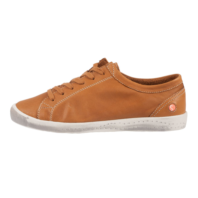 SOFTINOS Women's Isla Smooth Leather Flat Trainer Sneaker Shoe
