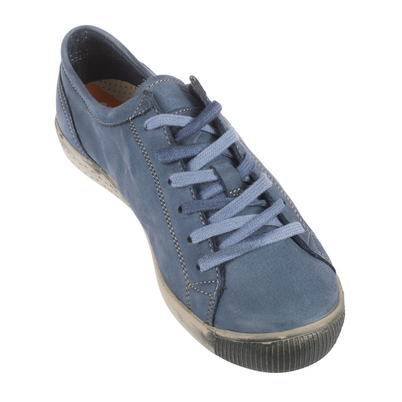 SOFTINOS Women's Isla Washed Leather Flat Trainer Sneaker Shoe
