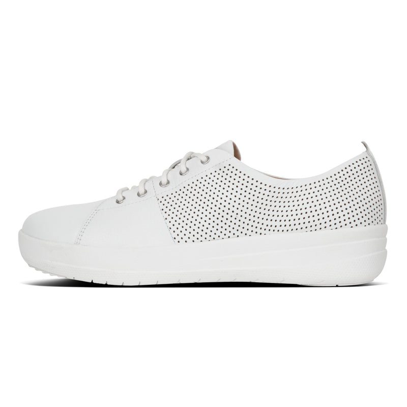Women's F-Sporty Scoop-Cut Perforated Leather Sneaker
