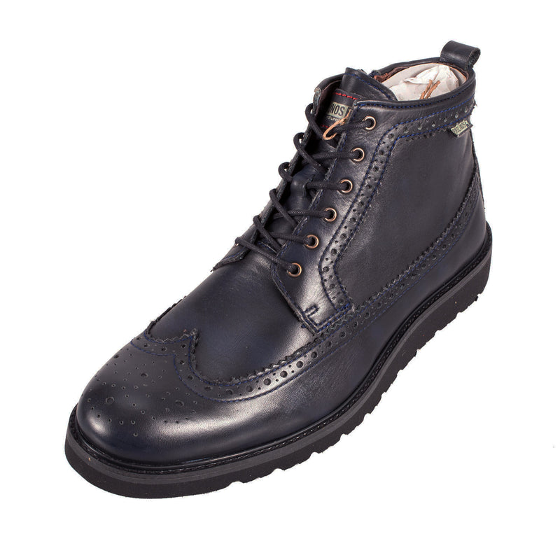 Men's Lace/Zip Leather Brogue Boot
