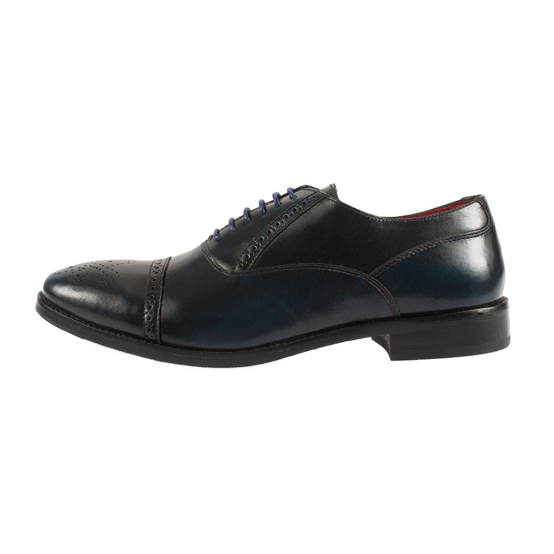 Men's Noel Hi Shine Leather Semi Brogue