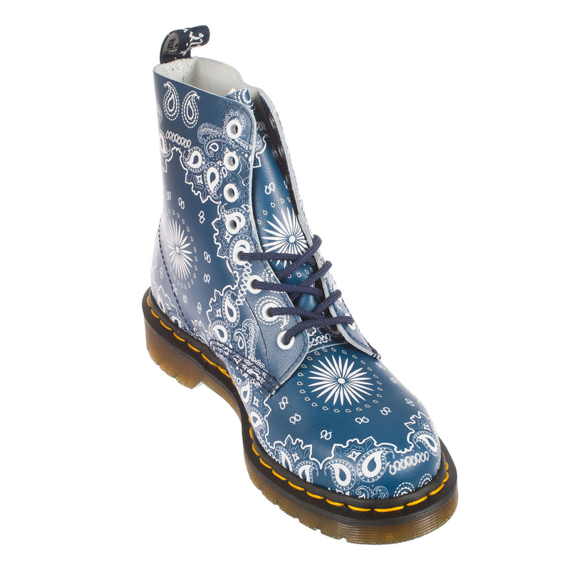 DR MARTENS Unisex Pascal 8 Eye Bandana Print Lace Up Boot (21864411)