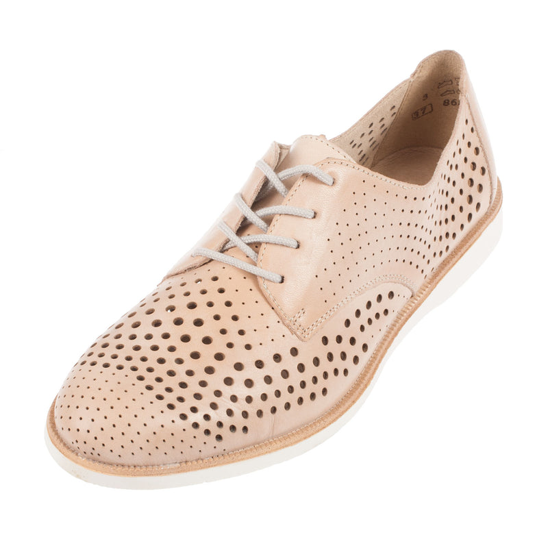 Women's Leather Perforated Lace Up