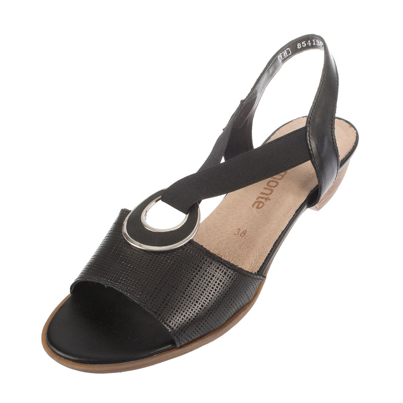 Women's R0855-01 Leather Strapped Sandal