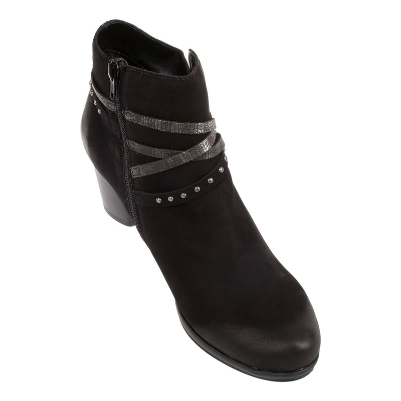 Women's Suede Ankle Heel Boot